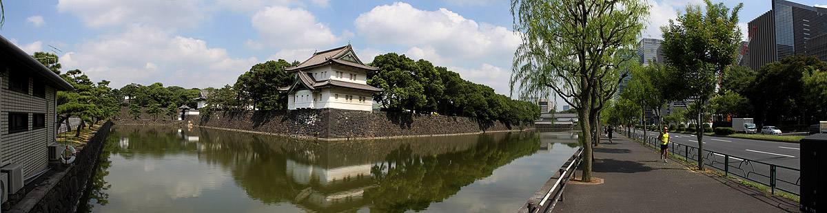 Moat and Keep Approaching Tokyo Imperial Palace